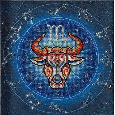 Набор для вышивания бисером Год быка. Скорпион, 20x20, Кроше