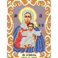 Канва с рисунком Богородица Леушинская, 12x16, Божья коровка