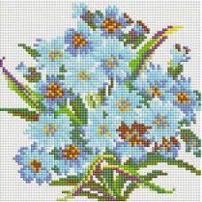 Алмазная мозаика Букет Нежность, 20x20, полная выкладка, Белоснежка