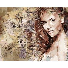 Живопись по номерам Девушка в газете, 40x50, Paintboy, GX39492