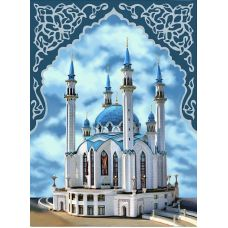 Мозаика стразами Мечеть Кул-Шариф, 30x40, полная выкладка, Алмазная живопись