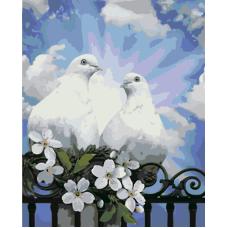 Живопись по номерам Пара голубей, 40x50, Hobruk, CM0045