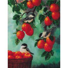 Набор для вышивания бисером на шелке Яблочный спас, 38x47, Fedi