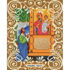 Канва с рисунком Богородица Нечаянная радость, 20x25, Божья коровка