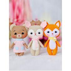 Набор для шитья куклы Лесный друзья, 14-15 ,Тутти