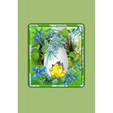 Набор для вышивания с бисером и паспарту Пасхальная картинка, 24x26 (14x16), Матренин посад