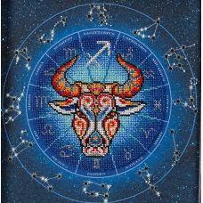 Набор для вышивания бисером Год быка. Стрелец, 20x20, Кроше