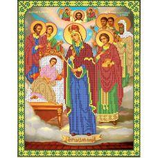 Ткань для вышивания бисером Богородица Целительница, 26,5x34,5, Каролинка