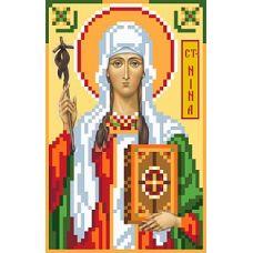 Рисунок на шелке Святая Нина, 22x25 (9x14), Матренин посад