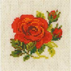 Набор для вышивания крестом Розочка, 13x13, Риолис, Сотвори сама