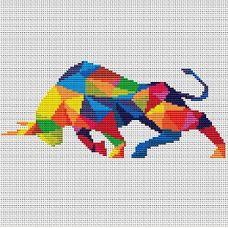 Набор для вышивания крестом Грозный бык, 21,2x19,2, Тутти