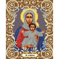 Канва с рисунком Богородица Леушинская, 20x25, Божья коровка