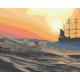 Живопись по номерам Бумажный кораблик, 40x50, Hobruk, HS1275