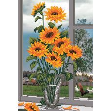 Набор для вышивания бисером Солнышко на окне, 37x49 (27x39), Матренин посад