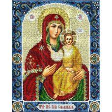 Набор для вышивания бисером Богородица Смоленская, 20x25, Паутинка