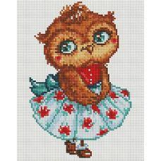 Алмазная мозаика Модная совушка, 20x25, полная выкладка, Белоснежка