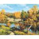 Живопись по номерам Осень в лесу, 40x50, Hobruk, U8052