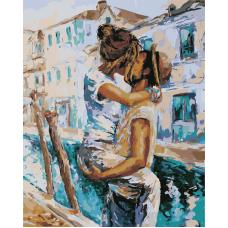 Живопись по номерам Венецианский поцелуй, 40x50, Hobruk, CM0081