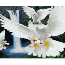 Живопись по номерам Полет голубей, 40x50, Hobruk, CM0041