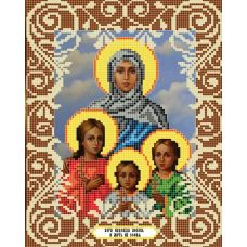 Канва с рисунком Вера, Надежда, Любовь и мать их София, 20x25, Божья коровка