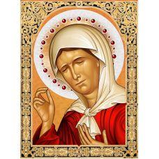 Мозаика стразами Икона Матрона Московская, 30x40, полная выкладка, Алмазная живопись