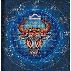 Набор для вышивания бисером Год быка. Весы, 20x20, Кроше