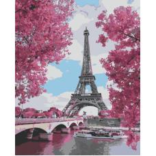 Живопись по номерам Париж, 40x50, Hobruk, CM0034