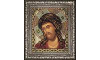 Рама для иконы Спас в терновом венце, Радуга бисера (Кроше), 20х24, Мир багета