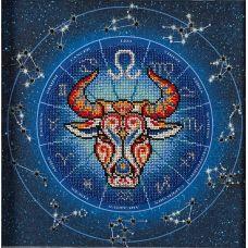 Набор для вышивания бисером Год быка. Лев, 20x20, Кроше