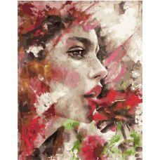 Живопись по номерам Девушка с цветком, 40x50, Paintboy, GX25845