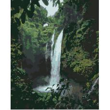 Живопись по номерам Водопад в джунглях, 40x50, Hobruk, HS1291