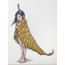 Набор для вышивания крестом Дюймовочка, 14x19, НеоКрафт
