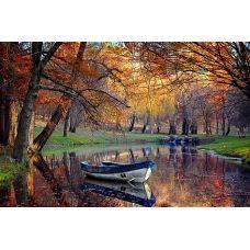 Рисунок на шелке Осенний вальс, 37x49 (22x33), Матренин посад