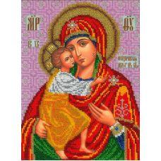 Набор для вышивания Богородица Феодоровская, 19x25,5, Вышиваем бисером