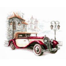Набор для вышивания крестом Ретро-автомобиль. Кадиллак, 20x16, Чудесная игла