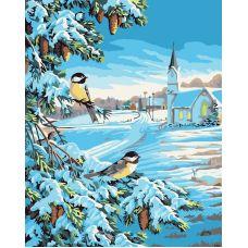 Живопись по номерам Снежная зима, 40x50, Белоснежка