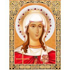 Мозаика стразами Икона Святая Татьяна, 30x40, полная выкладка, Алмазная живопись