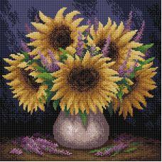Алмазная мозаика Подслонечное настроение, 38x38, полная выкладка, Brilliart (МП-Студия)