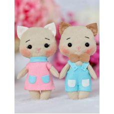 Набор для шитья куклы Котята Персик и Марсик, 14 ,Тутти
