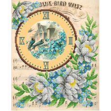 Рисунок на габардине Вальс синей птицы, 40x50, МП-Студия, Г-173