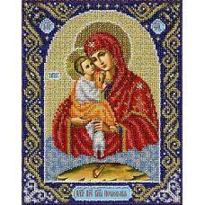Набор для вышивания бисером Богородица Почаевская, 20x25, Паутинка