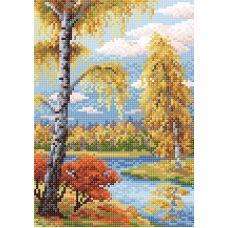 Алмазная мозаика Осенний пейзаж, 19x27, полная выкладка, Brilliart (МП-Студия)