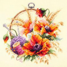Набор для вышивания крестом Маки для искусницы, 25x25, Чудесная игла