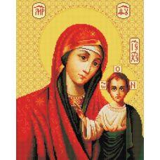 Алмазная мозаика Икона Божией матери Казанская, 40x50, полная выкладка, Белоснежка