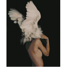 Живопись по номерам Лебединая нежность, 40x50, Hobruk, CM0020