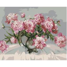 Живопись по номерам Букет хризантем, 40x50, Hobruk, HB0003