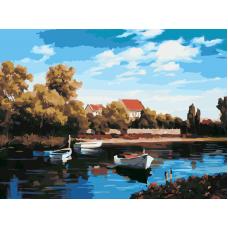 Живопись по номерам Деревня летом, 30x40, Hobruk, HS2059