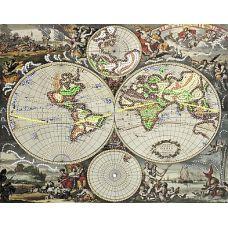 Рисунок на шелке Пиратский план, 37x49 (26x33), Матренин посад
