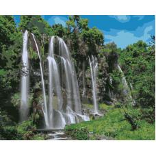 Живопись по номерам Водопад, 40x50, Hobruk, U8110