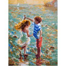 Живопись по номерам Танец на воде, 30x40, Белоснежка
